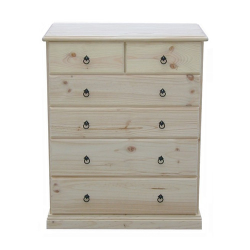 BOOKEND DELUXE 6 DRAWER TOP SPLIT TALLBOY (CSA316) -950(W) X 1180(H)- ASSORTED COLORS