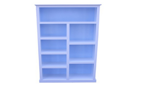 FEDERATION SPLIT KIDS BOOKCASE (6X3) - 1800(H) X 900(D) - PRICED IN ASSORTED COLOURS (VIC ASH AND PINE OPTIONS ALSO AVAILABLE - PRICE ON APPLICATION) - CUSTOMISATION AVAILABLE