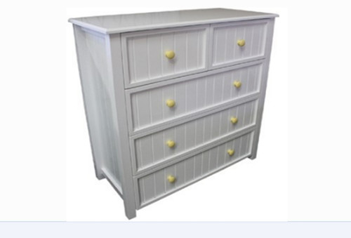 GEORGE TALLBOY WITH 5 DRAWERS AND STANDARD WOODEN KNOBS 1070(H) x 1000(W) (NOT AS PICTURED) - PRICED IN ASSORTED COLOURS (VIC ASH AND PINE OPTIONS ALSO AVAILABLE - PRICE ON APPLICATION) - CUSTOMISATION AVAILABLE