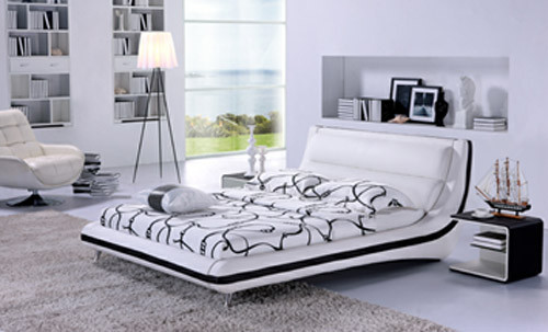 KING PRATO (G892) LEATHERETTE BED - ASSORTED COLOURS AVAILABLE