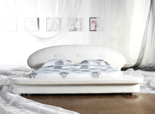 KING SASSARI (G869#) LEATHERETTE BED - ASSORTED COLOURS AVAILABLE