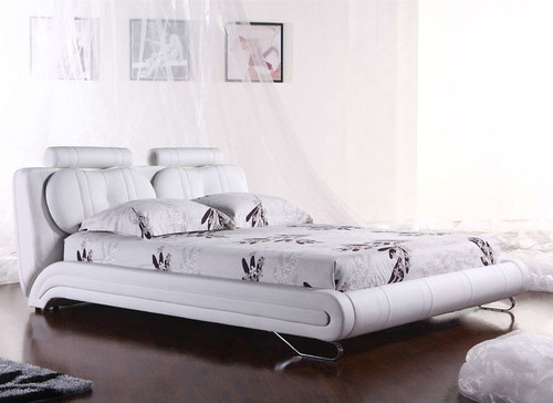 QUEEN MARA (2815#) LEATHERETTE BED - ASSORTED COLOURS