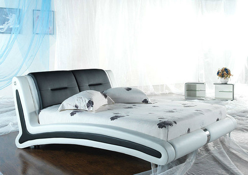 QUEEN (2900#) LEATHERETTE BED - ASSORTED COLOURS