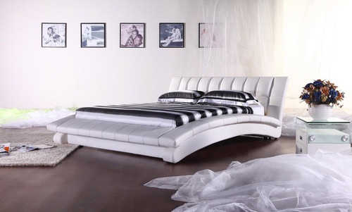QUEEN (2877#) LEATHERETTE BED - ASSORTED COLOURS AVAILABLE