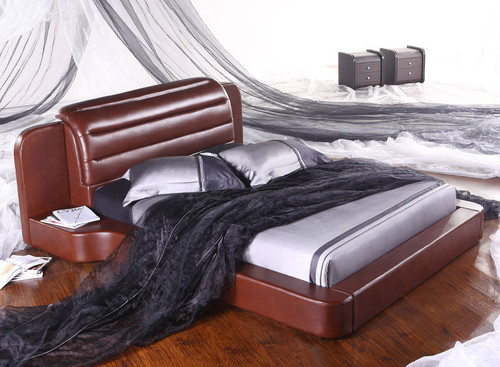KING (G896#) LEATHERETTE BED - ASSORTED COLOURS AVAILABLE