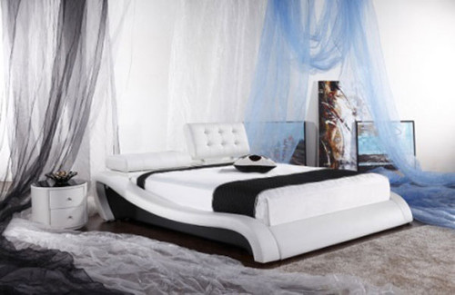QUEEN (G933#) LEATHERETTE BED - ASSORTED COLOURS AVAILABLE