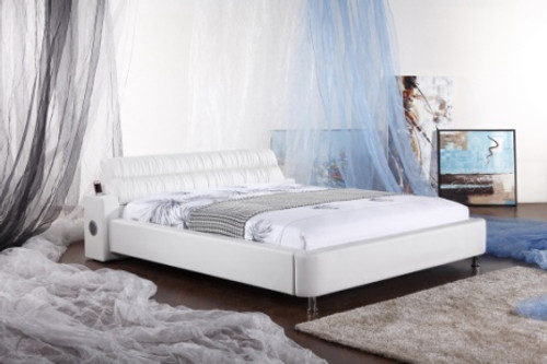 KING (G937#) LEATHERETTE BED WITH iPHONE HIFI - ASSORTED COLOURS AVAILABLE