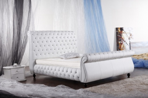 KING MAXINE (G954#) LEATHERETTE BED - ASSORTED COLOURS AVAILABLE