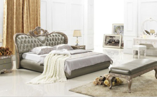 QUEEN (7#) LEATHERETTE BED - ASSORTED COLOURS AVAILABLE