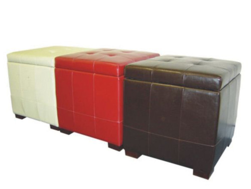 CHAROLOTTE (VOT-077) STORAGE OTTOMAN -  480(H) X 480(W) -ASSORTED COLOURS