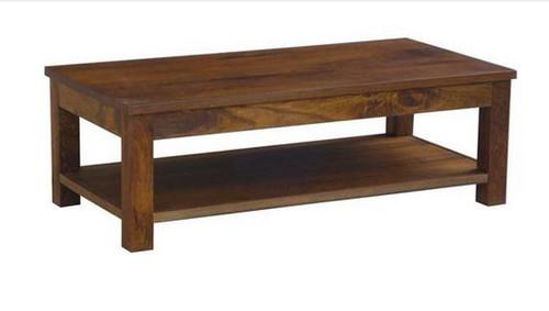 BRONTE (WONMR-047) COFFEE TABLE WITH SHELF -   1200(W) X 600(D) - LIGHT HONEY
