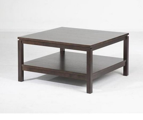 CUBIST (VCT-015) COFFEE TABLE -  800(W) X 800(D) - CHOCOLATE