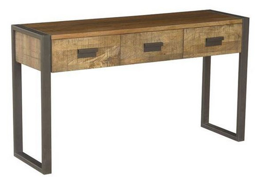 CONTEMPO (CN-004) HALL TABLE WITH 3 DRAWERS - 780(H) X 1400(W) X 400(D) - ANTIQUE NATURAL