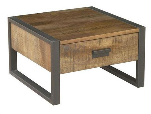 CONTEMPO (WOCN-005) LAMP TABLE WITH DRAWER - ANTIQUE NATURAL