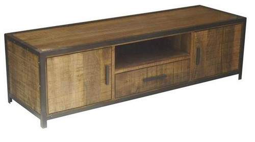 MONTEGO (MG-005) 2 DOOR TV UNIT WITH 1 DRAWER - 500(H) X 1800(W) - ANTIQUE NATURAL