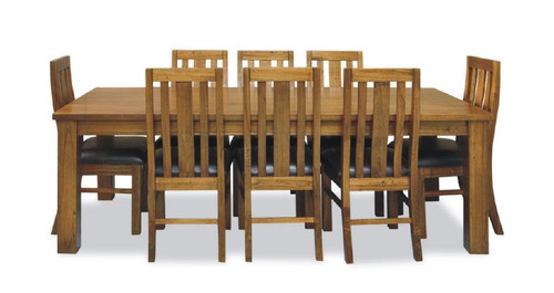 RADIUS  (VTO-009) DINING TABLE ONLY (WITHOUT DINING CHAIRS) (MODEL 20-15-19-3-1-14-1) - 1900(L) X 1000(W) - GOLDEN WALNUT