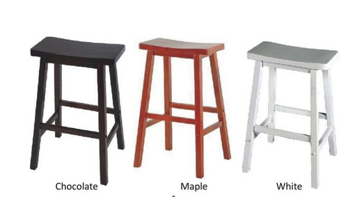 ZEN (WOST-008) STOOL 685(H) - MARPLE , CHOCOLATE OR WHITE