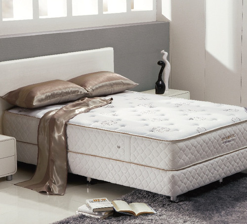 DOUBLE DELUXE FIRM POCKET SPRING ENSEMBLE WITH LATEX (BASE & MATTRESS) - FIRM