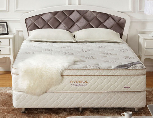 DOUBLE DELUXE EURO TOP POCKET SPRING MATTRESS WITH LATEX - MEDIUM