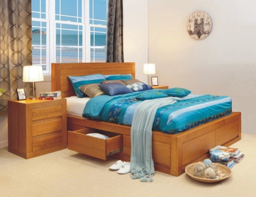 CLAREMONT DOUBLE OR QUEEN 4 PIECE (TALLBOY) BEDROOM SUITE WITH 4 UNDER BED DRAWERS - CHOICE OF COLOURS
