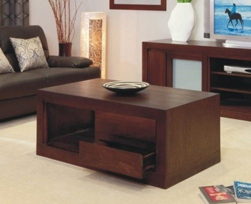 BRESSINGTON COFFEE TABLE WITH 2 DRAWERS -  1200(W) X 700(D) - CHOICE OF COLOURS