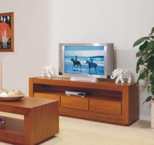 ELKE LOWLINE TV UNIT WITH 3 DRAWERS 700(H) X 1800(W) - TASIE OAK