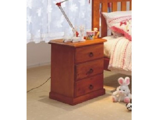 CRYSTAL/GRANDE 3 DRAWER BEDSIDE (MODEL 7-2) - GOLDEN BROWN (AL1)