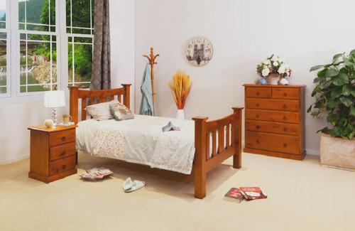 CARRIE SINGLE 3 PIECE BEDROOM SUITE (002ML) - IMPORT COLOUR (AL1)