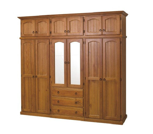 ARRONE 5 PIECE WARDROBE WITH 12 DOORS AND 3 DRAWERS - 2250(H) x 2400(W) - ASSORTED COLOURS