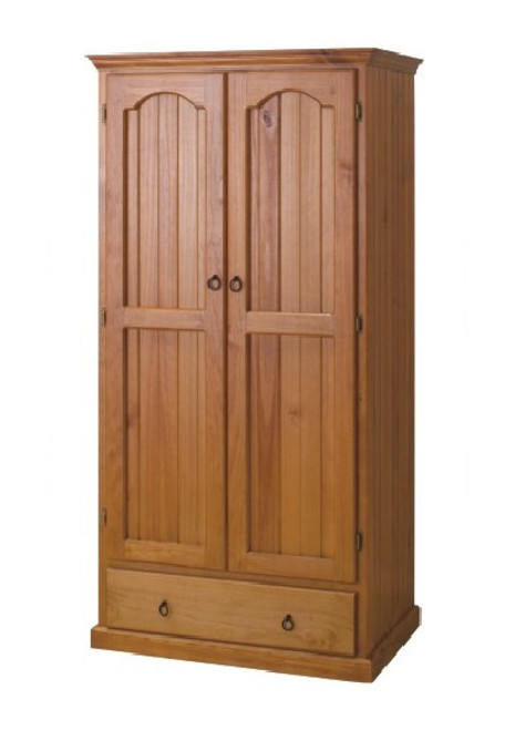 CLIO (ML) 2 DOOR WARDROBE WITH 1 DRAWER - 1900(H) X 900(W) - ASSORTED COLOURS