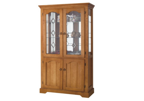 (MCDC-001) CHINA DISPLAY UNIT WITH MIRROR BACKING AND 2 GLASS SHELVES - LOCAL MAKE