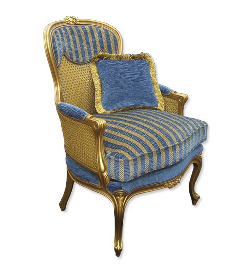 HALF CANE LOUIS XV (CH006N) ARM CHAIR