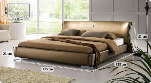 DOUBLE BLANCHE LEATHERETTE BED (3014) - ASSORTED COLORS