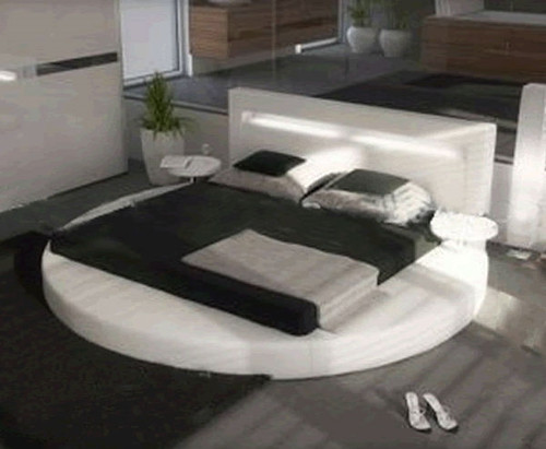 DOUBLE GEORGINA ROUND LEATHERETTE BED (3023) - ASSORTED COLOURS