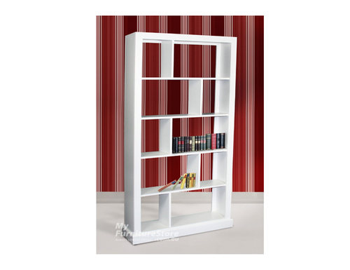 DERBY 10 BOX TALL STAGGERED BOOKCASE - 2400(H) X 1000(W) - ASSORTED COLOURS