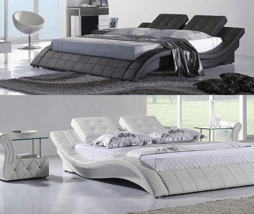 CHATEAU CHANTAL (8013) DOUBLE OR QUEEN 3 PIECE BEDSIDE BEDROOM SUITE WITH GLASS TABLE BEDSIDES (MODEL-1) - ASSORTED COLOURS