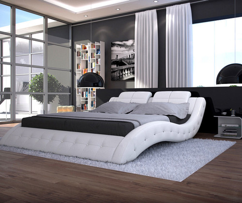 ALESSANDRA (3012) DOUBLE OR QUEEN 3 PIECE BEDSIDE BEDROOM SUITE (WITH NIGHTSTAND #25 BEDSIDES) - ASSORTED COLOURS