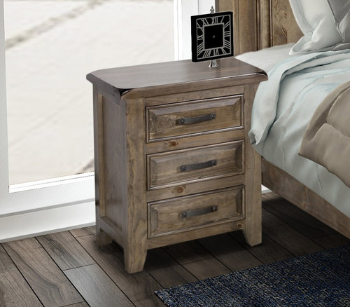 HERITAGES 183 BEDSIDE TABLE (HTG183) - 690(H) x 590(W) - GREY WASH (#501)