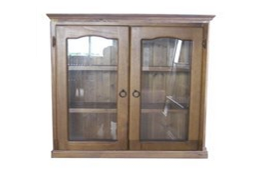 NOOSA (3x3) LIBRARY 2 DOOR DISPLAY CABINET (AUSSIE MADE) (Z-1) - 900(H) x 900(W) - ASSORTED COLOURS