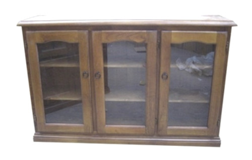 LIBRARY 3 DOOR DISPLAY CABINET (Z-12) - 900(H) x 1500(W) - BALTIC(#215) OR WALNUT(#219)