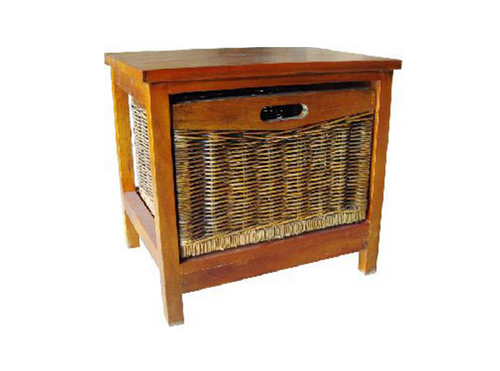 MEXICALI CANE STORAGE DRAWERS / CABINET WITH 1 DRAWER (V-MEX-1D) (MODEL 13-5-24-9-3-1-14-1) - AMERICAN HERITAGE