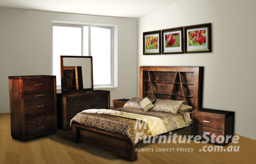 CHRISTIAN DOUBLE OR QUEEN 6 PIECE BEDROOM SUITE - ASSORTED COLOURS