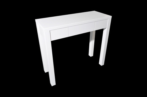 KAREN HALLWAY TABLE - 900(H) X 1000(W) X 400(D)- HIGH GLOSS WHITE