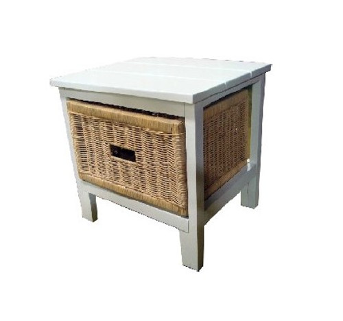BONDI 1 DRAWER NATURAL CANE CABINET (V-BON-1D)