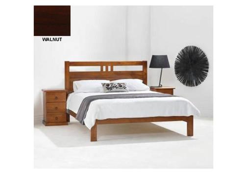 KING SINGLE TORONTO BED (MODEL 11-1-20-5) - BLACKWOOD OR WALNUT