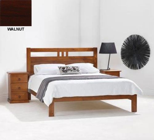 DOUBLE TORONTO BED (MODEL 11-1-20-5) - BLACKWOOD OR WALNUT