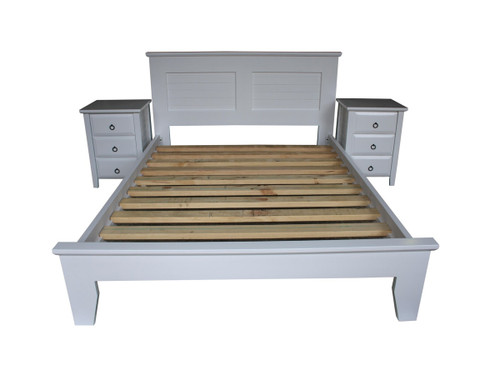 DOUBLE MANILLA BED ONLY - ASSORTED TIMBER COLOURS (NOT AS PICTURED)