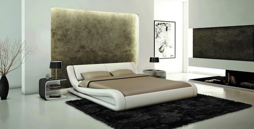 CALABRIA QUEEN 3 PIECE BEDSIDE BEDROOM SUITE (WITH #25 BEDSIDES) - LEATHERETTE - ASSORTED COLOURS