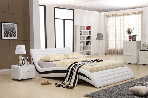 QUEEN TORENIO LEATHERETTE BED (3009) - ASSORTED COLOURS