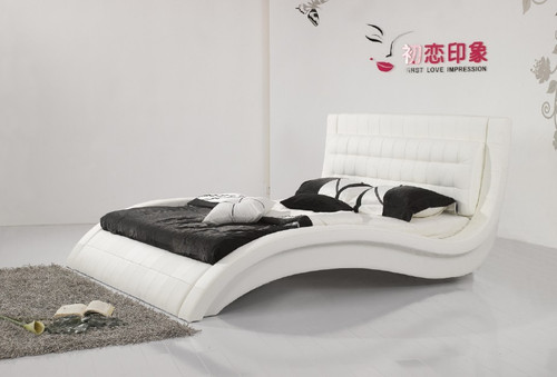 KING TROGINO LEATHERETTE BED (3068) - ASSORTED COLOURS